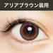 "ARIA BROWN10枚入り""度なし・度あり"" 藤井リナプロデュースカラコン1DAY RICHBABY Beauty"