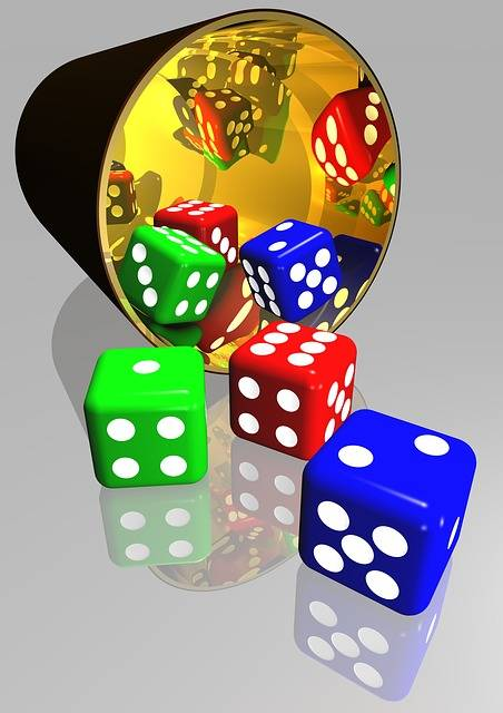 Free illustration: Dice, Gaming, Play, Luck, Chance - Free Image on Pixabay - 586123 (3504)