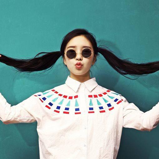 Retro Hippie Metal Lennon Round Color Lens Sunglasses 8594 | オルチャン、ヘアスタイル、グランジスタイル (3607)