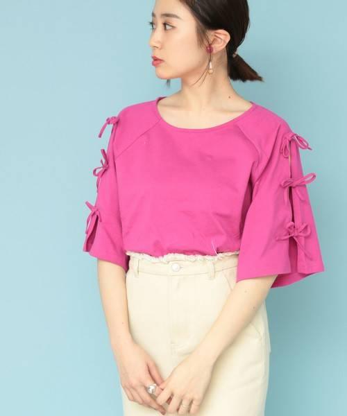 ショルダーリボンプルオーバー(Tシャツ/カットソー)|mystic(ミスティック)のファッション通販 - ZOZOTOWN (3724)
