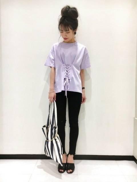 JEANASIS 長崎店STAFF(JEANASISアミュプラザ長崎店)|JEANASISのTシャツ/カットソーを使ったコーディネート - WEAR (3874)