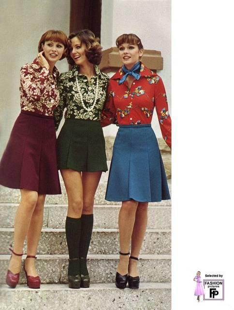花柄ファッションは70年代を参考に♪