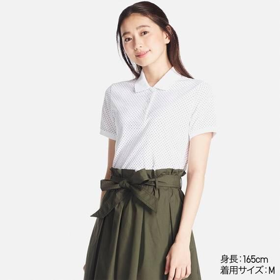 カノコプリントポロシャツ(ドット・半袖)¥1,290 ...