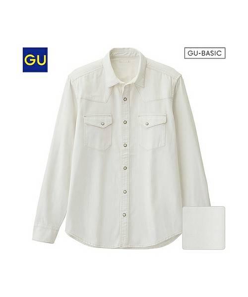 GU(ジーユー)の「(GU)デニムウェスタンシャツ(長袖)(トップス)」 - WEAR (4577)