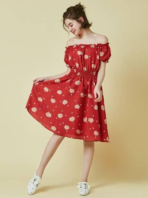 ダズリン|dazzlin公式ファッション通販|ランウェイチャンネル【sw】ドットマーガレットオフショルワンピースの詳細情報| RUNWAY channel(ランウェイチャンネル) (4766)