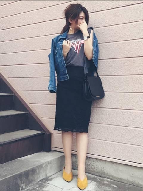 Sayaka͛♡꒰・・ミ ͛꒱|GUのスカートを使ったコーディネート - WEAR (5207)