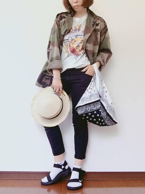 YOSHIKO|ミリタリージャケットを使ったコーディネート - WEAR (9100)