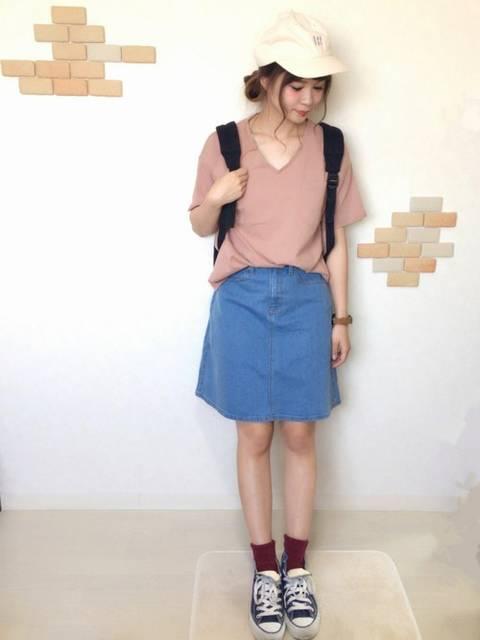 みくぴよ*|E hyphen world galleryのTシャツ/カットソーを使ったコーディネート - WEAR (9263)