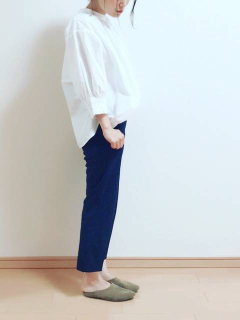 ikumi*|UNIQLOのシャツ・ブラウスを使ったコーディネート - WEAR (9385)