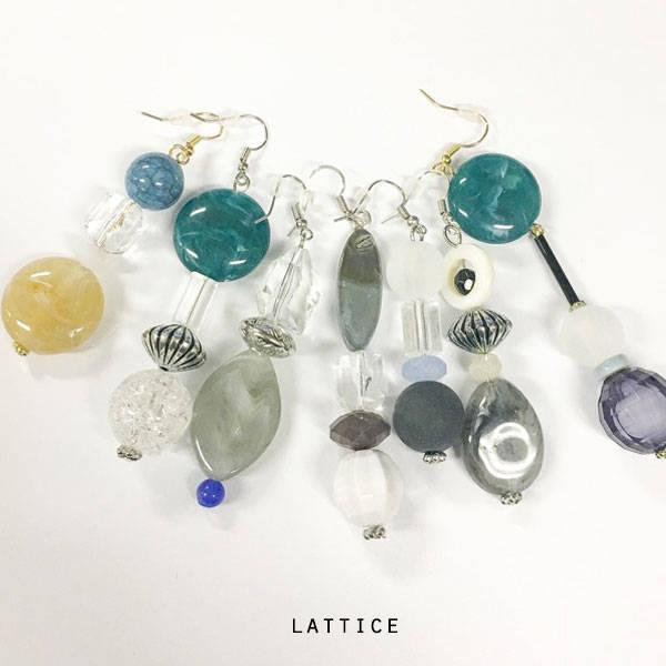 ビンテージ風イヤリング | Lattice (10070)