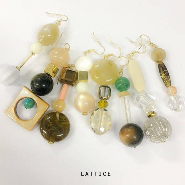 ビンテージ風イヤリング | Lattice (10071)