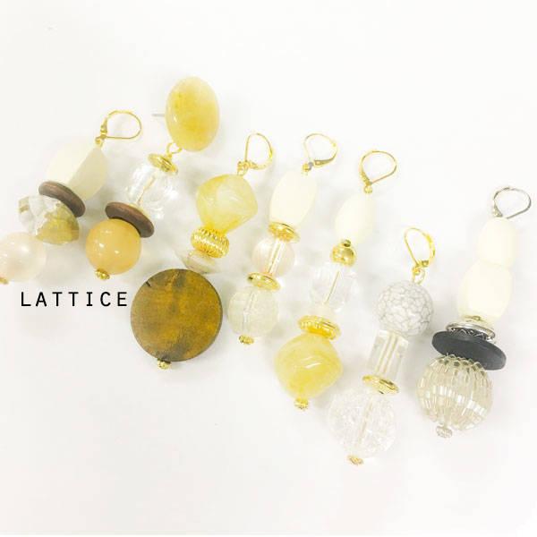 ビンテージ風イヤリング | Lattice (10074)