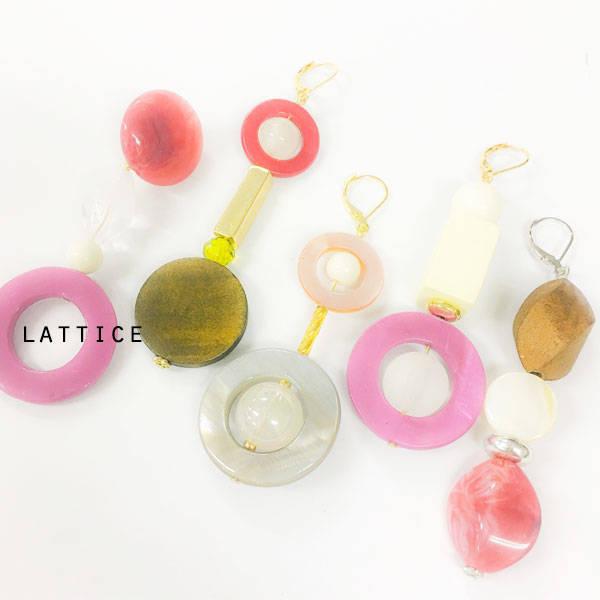 ビンテージ風イヤリング | Lattice (10075)