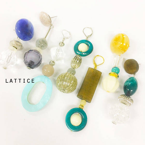 ビンテージ風イヤリング | Lattice (10076)
