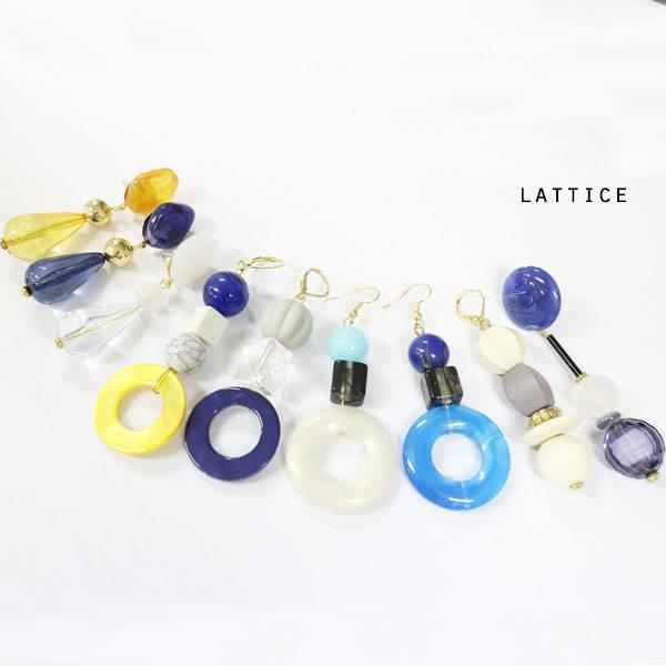 ビンテージ風ピアス | Lattice (10078)