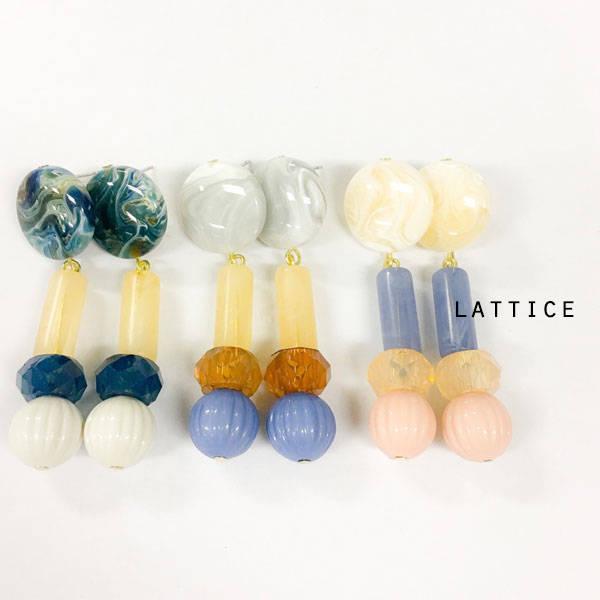 ビンテージ風ピアス | Lattice (10079)