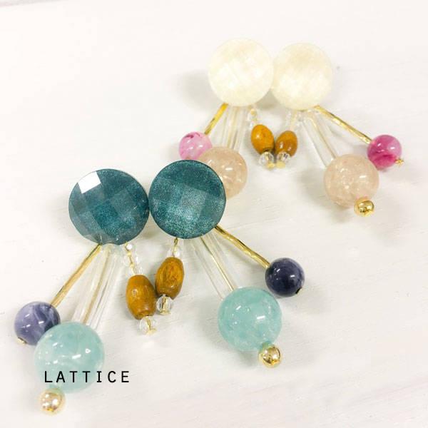 ビンテージ風ピアス | Lattice (10080)