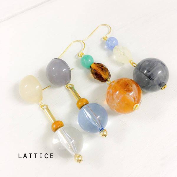 ビンテージ風ピアス | Lattice (10081)
