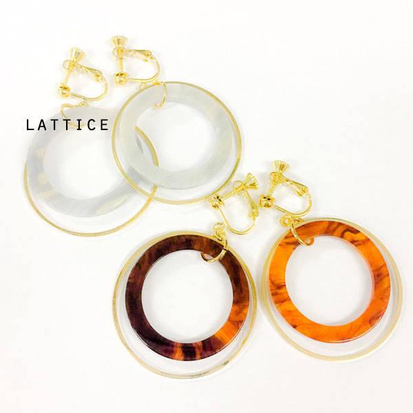 クリアイヤリング | Lattice (10086)