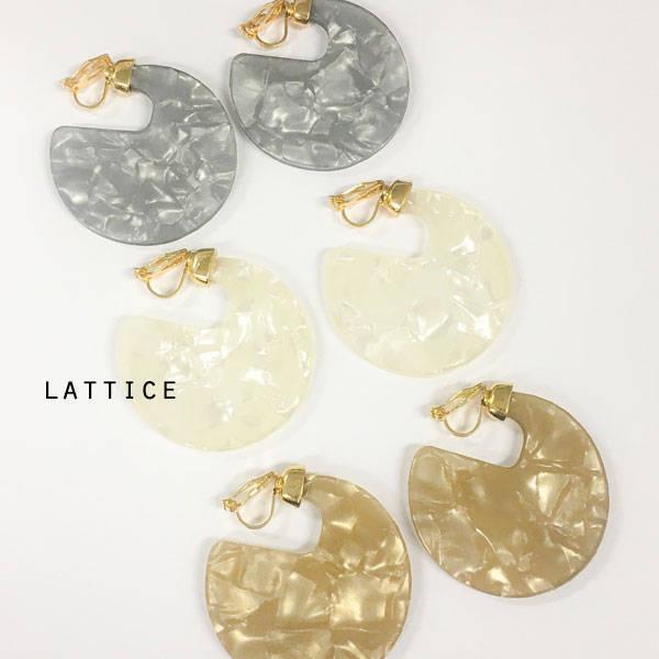 アクリルイヤリング | Lattice (10087)