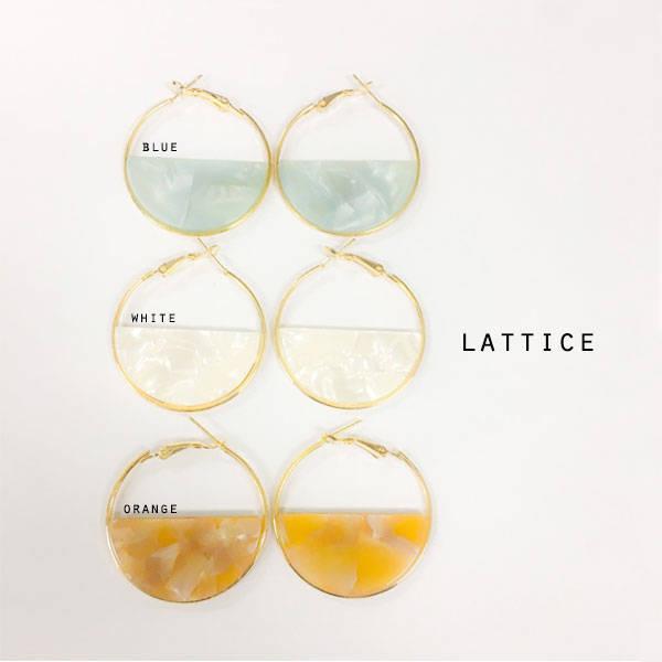 リングピアス | Lattice (10090)