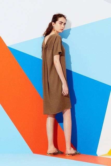 ジーユー|バックデザインロングT(半袖)|WOMEN(レディース)|公式オンラインストア(通販サイト) (10149)