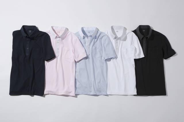 ユニクロ|ドライコンフォートシャツカラーポロシャツ(布帛襟・半袖)|MEN(メンズ)|公式オンラインストア(通販サイト) (11316)