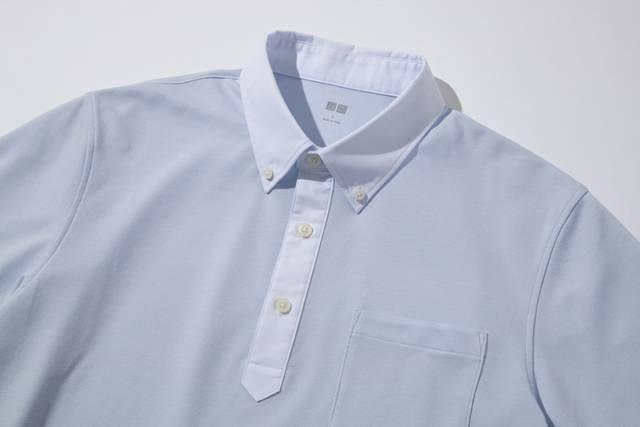 ユニクロ|ドライコンフォートシャツカラーポロシャツ(布帛襟・半袖)|MEN(メンズ)|公式オンラインストア(通販サイト) (11323)