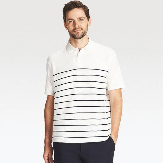 ユニクロ|リラックスフィットポロシャツ(ボーダー・半袖)|MEN(メンズ)|公式オンラインストア(通販サイト) (11327)