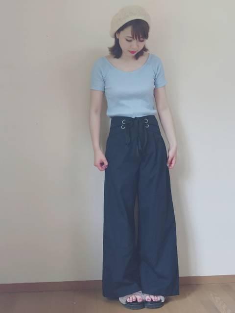k.m♡mama|ユニクロのTシャツ(半袖 ・タンクトップ)を使ったコーディネート - WEAR (11734)