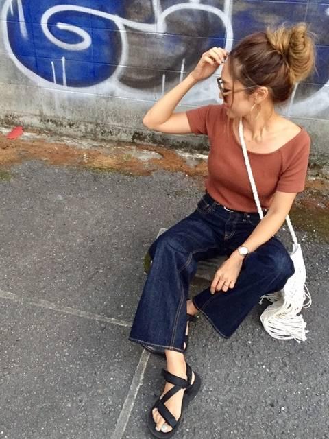 Ikumi |ユニクロのTシャツ(半袖 ・タンクトップ)を使ったコーディネート - WEAR (11909)