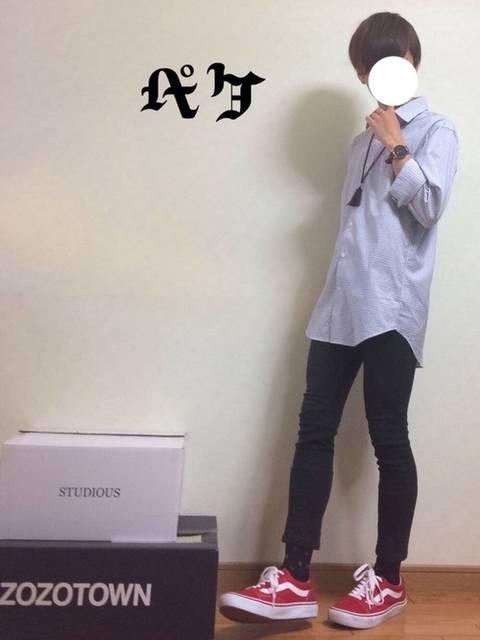 ペケ|ユニクロのきれいめシャツ(長袖・半袖)を使ったコーディネート - WEAR (12718)
