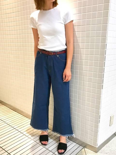 anje_chi|ユニクロのTシャツ(半袖 ・タンクトップ)を使ったコーディネート - WEAR (13488)