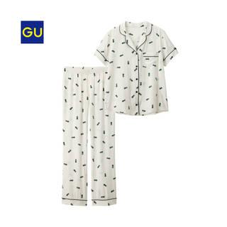 ジーユー|パジャマ(パイナップル・半袖)|WOMEN(レディース)|公式オンラインストア(通販サイト) (4376)