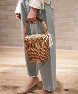 オリジナルバケツ型バスケット【niko and ...】(かごバッグ)|niko and...(ニコアンド)のファッション通販 - ZOZOTOWN (4920)