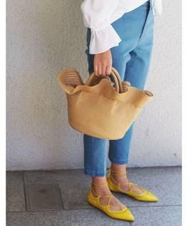 フリルカゴ BAG / かごバッグ / ペーパーバッグ(かごバッグ)|Jewel Changes(ジュエルチェンジズ)のファッション通販 - ZOZOTOWN (4922)