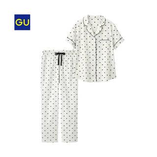 大人気のハート柄のパジャマに半袖トップス&ロングパンツ...