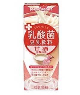Amazon | ソヤファーム プラス乳酸菌豆乳飲料 甘酒 200ml紙パック×24本入 | 甘酒 通販 (6662)
