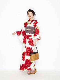ふりふ 浴衣「椿牡丹」  - 三松グループ(MGOS)公式通販サイト (7289)