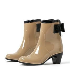 【セール】SURZO(スルジョー) エナメルラバー バッグリボン ショートレインブーツ(レインシューズ)|Fashion Letter(ファッションレター)のファッション通販 - ZOZOTOWN (7985)