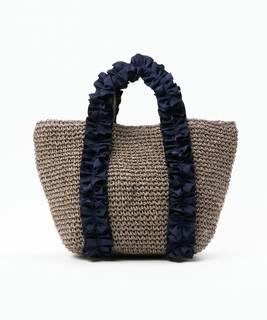【セール】【SALON de RUBAN】 ペーパーフリルハンドバッグ(かごバッグ)|SAC'S BARJean(サックスバージーン)のファッション通販 - ZOZOTOWN (9531)