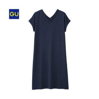 ジーユー|VネックロングT(半袖)NU|WOMEN(レディース)|公式オンラインストア(通販サイト) (10152)
