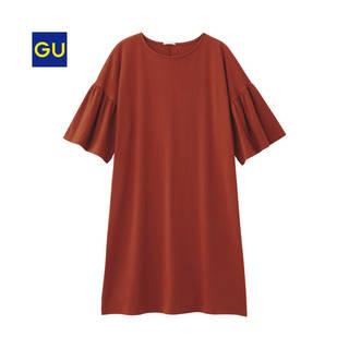 ジーユー|フレアスリーブロングT(5分袖)NU|WOMEN(レディース)|公式オンラインストア(通販サイト) (10161)