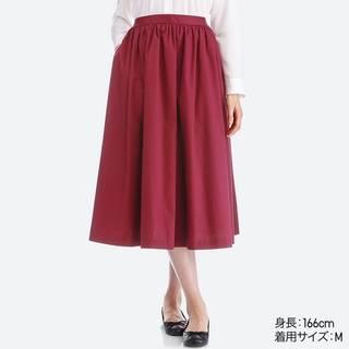 ユニクロ|ハイウエストコットンボリュームスカート|WOMEN(レディース)|公式オンラインストア(通販サイト) (14519)