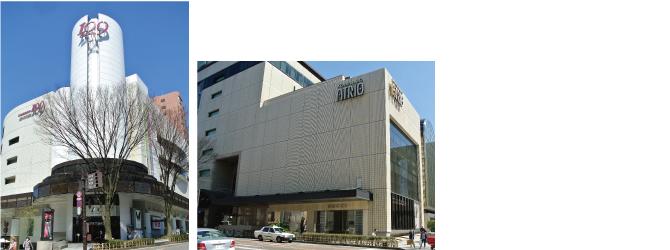 金沢市の繁華街として知られる香林坊エリアには、老舗百貨店である大和香林坊とファッションビルのアトリオ、対面には香林坊109がある