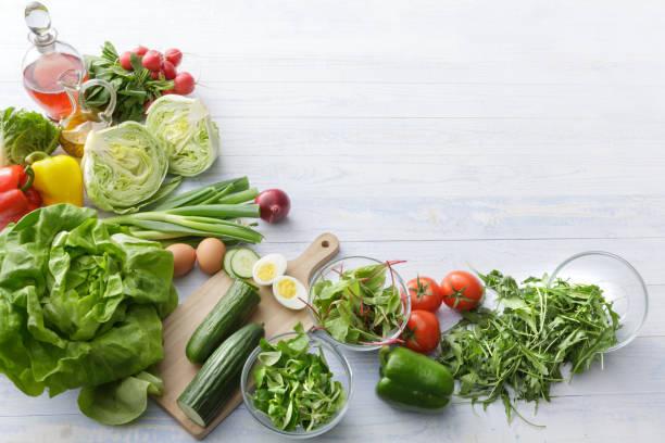 生野菜サラダも一緒に