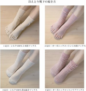 千代治のくつ下 冷えとり靴下 4足重ね履きセット 日本製