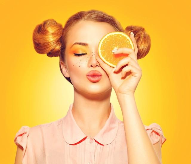 オレンジメイクで甘やかされ系ベビーフェイスに♡