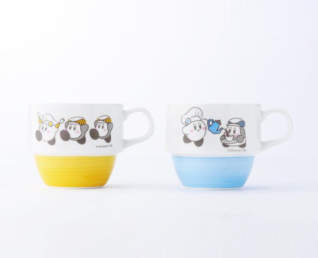 ハンドペイント スタッキングマグカップ(イエロー/ブルー)