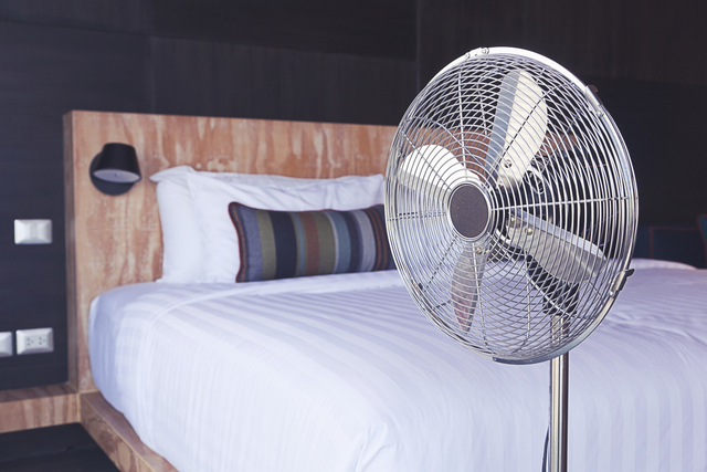 寝室の扇風機